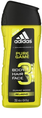 Adidas 3 in 1 Pure Game гель для душу для чоловіків
