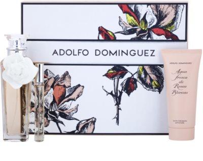 Adolfo Dominguez Agua Fresca de Rosas Blancas lote de regalo