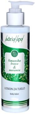 Adria-Spa Lemongrass & Orange hydratační tělové mléko