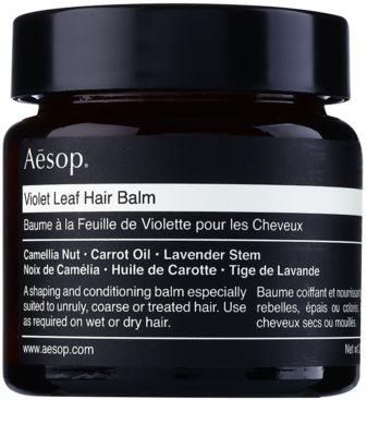 Aésop Hair Violet Leaf tvarující balzám pro nepoddajné a krepatějící se vlasy
