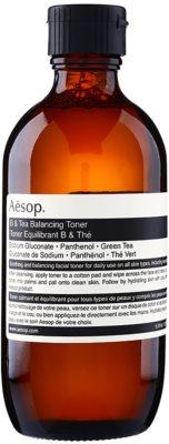 Aésop Skin B & Tea делікатно очищаючий тонік для всіх типів шкіри навіть чутливої