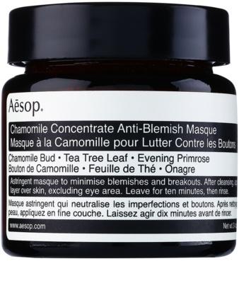 Aésop Skin Chamomile mascarilla purificante para pieles problemáticas