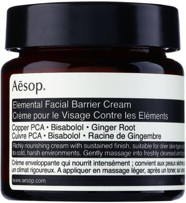 Aésop Skin Elemental intensive, hydratisierende Creme regeneriert die Hautbarriere