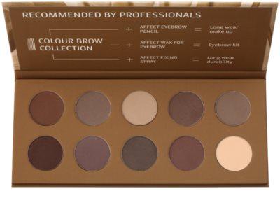 Affect Color Brow Colection paleta para maquilhagem de sobrancelhas