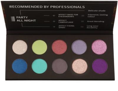 Affect Party All Night 10 színt tartalmazó szemhéjfesték paletta
