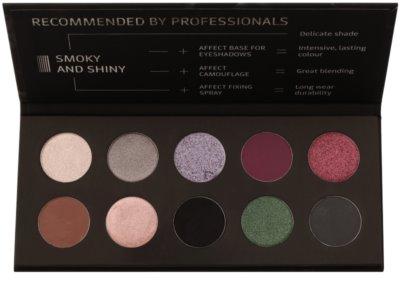 Affect Smoky and Shiny paleta očních stínů 10 barev