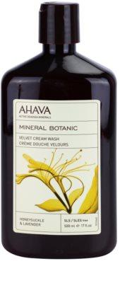Ahava Mineral Botanic Honeysuckle & Lavender sametový sprchový krém