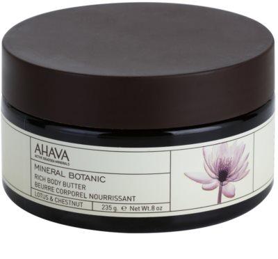 Ahava Mineral Botanic Lotus & Chestnut vyživujúce telové maslo