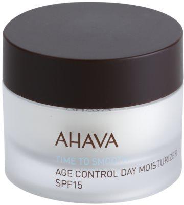 Ahava Time To Smooth denní hydratační krém proti stárnutí pleti s kyselinou hyaluronovou