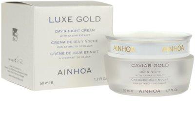Ainhoa Luxe Gold денний та нічний крем з чорною ікрою 1