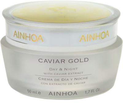 Ainhoa Luxe Gold денний та нічний крем з чорною ікрою