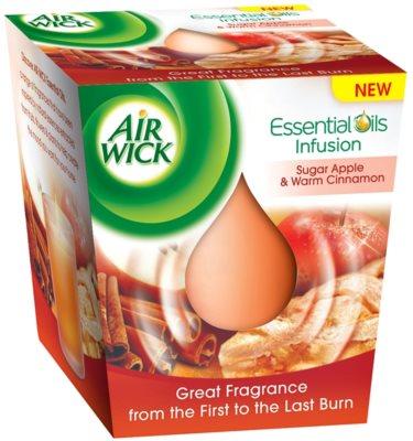 Air Wick Essential Oil Sugar Apple & Warm Cinnamon ароматизована свічка