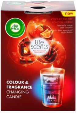 Air Wick Life Scents Color & Fragrance Changing dišeča sveča    (Turquoise Oasis)