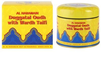 Al Haramain Duggatal Oudh with Wardh Taifi incenso
