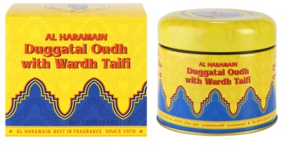 Al Haramain Duggatal Oudh with Wardh Taifi incienso
