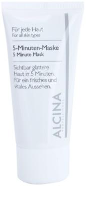 Alcina For All Skin Types máscara de 5 minutos para uma pele com aparência fresca