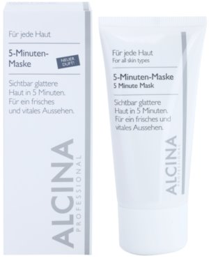 Alcina For All Skin Types mascarilla de 5 minutos para una piel de aspecto más fresco y juvenil 1