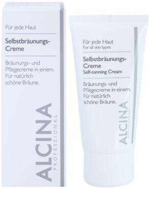 Alcina For All Skin Types samoopalający krem  do twarzy 1