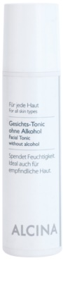 Alcina For All Skin Types тоник за лице без алкохол