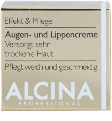 Alcina Effective Care crema para contorno de ojos y labios con efecto alisante 2