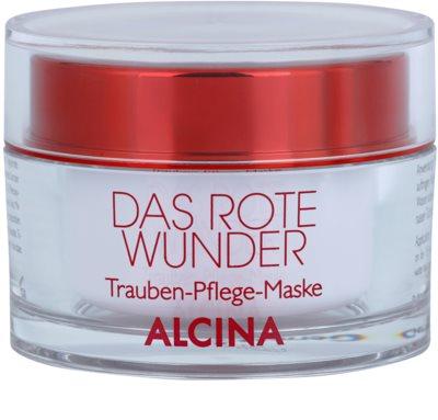 Alcina The Red Miracle mascarilla facial nutritiva con extracto de uvas
