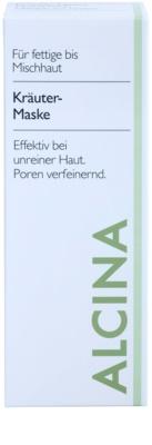 Alcina For Oily Skin Gyógynüvényes maszk a fénylő arcbőr és a kitágult pórusok ellen 2