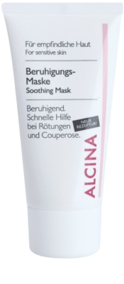 Alcina For Sensitive Skin pomirjajoča maska s takojšnim učinkom