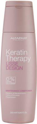 Alfaparf Milano Lisse Design Keratin Therapy odżywka odżywiająca bez sulfatów i parabenów
