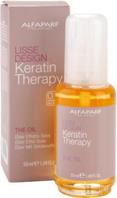Alfaparf Milano Lisse Design Keratin Therapy nährendes Öl für alle Haartypen 2