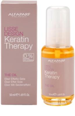 Alfaparf Milano Lisse Design Keratin Therapy odżywczy olejek do wszystkich rodzajów włosów 3