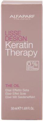 Alfaparf Milano Lisse Design Keratin Therapy odżywczy olejek do wszystkich rodzajów włosów 4