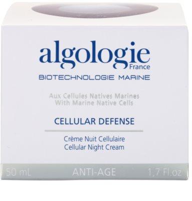 Algologie Cellular Defense creme de noite regenerador  nutrição e hidratação 3