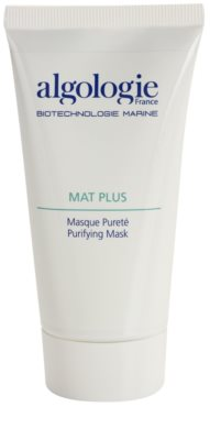 Algologie Mat Plus maseczka oczyszczająca do redukcji nadmiernego przetłuszczania się skóry