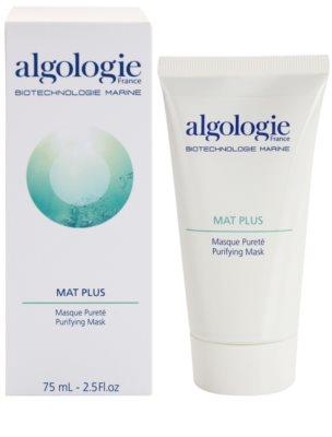Algologie Mat Plus čisticí maska na redukci mastnoty pleti 1