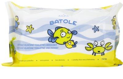 Alpa Batole finom nedves törlőkendők gyermekeknek aleo verával