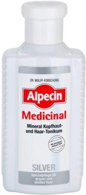 Alpecin Medicinal Silver haj tonikum semlegesíti a sárgás tónusokat