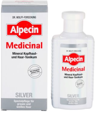 Alpecin Medicinal Silver das Haartonikum neutralisiert gelbe Verfärbungen 1