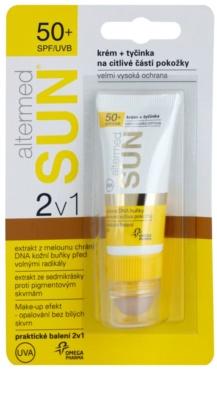 Altermed SUN 2 in1 crema + barra para zonas sensibles