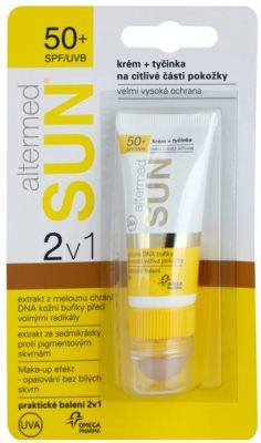 Altermed SUN 2 in1 krem + pomadka do ust do skóry podrażnionej