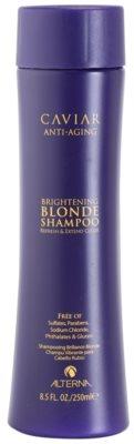 Alterna Caviar Blonde szampon rozświetlający do włosów blond