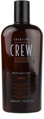 American Crew Classic šampon, kondicionér a sprchový gel 3 v 1 pro muže