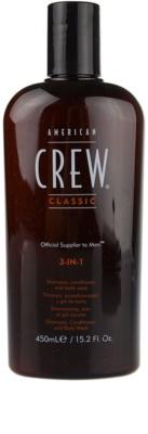 American Crew Classic szampon, odżywka do włosów i żel pod prysznic 3w1 dla mężczyzn