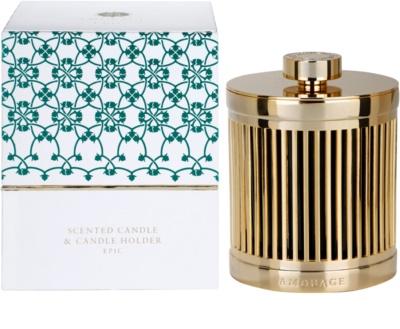 Amouage Epic vela perfumada   + soporte