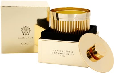 Amouage Gold vela perfumada   + soporte 3