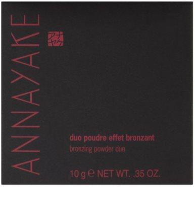 Annayake Face Make-Up pó bronzeador duo para um brilho natural 2
