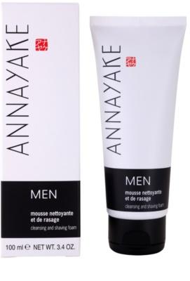 Annayake Men's Line espuma para afeitar y limpiar la piel 1