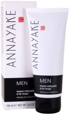 Annayake Men's Line espuma para afeitar y limpiar la piel 2
