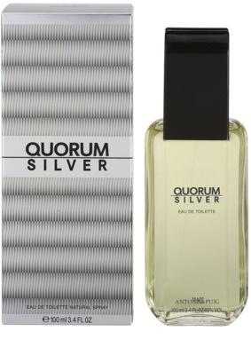 Antonio Puig Quorum Silver Eau de Toilette para homens