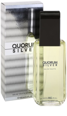 Antonio Puig Quorum Silver eau de toilette para hombre 1