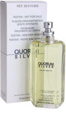 Antonio Puig Quorum Silver woda toaletowa tester dla mężczyzn 1
